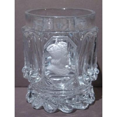 Baccarat, Goblet With Cristalloceram Saint Louis, Circa 1830