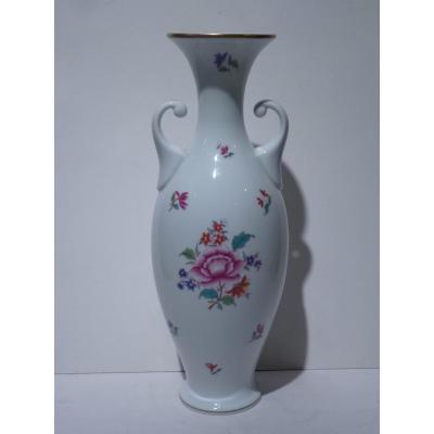 HEREND, Vase Amphore En Porcelaine, 20e Siècle