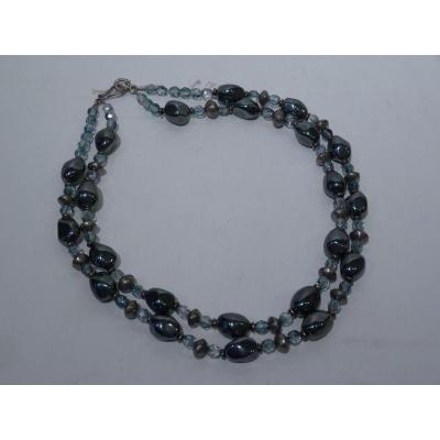 Double Necklace In Hematite, 20th Century