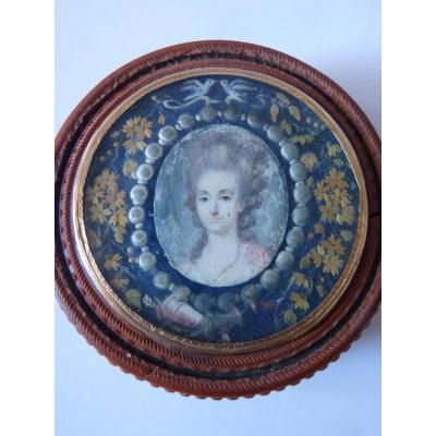 Comtesse de Blic, Boite à Miniature, Epoque Louis XVI