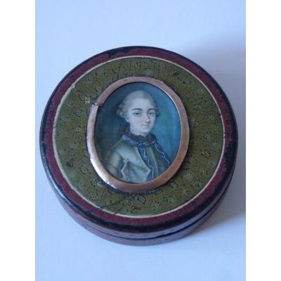 Jacques Bellet, Miniature Box, Gentleman With Breastplate, Louis XV Period