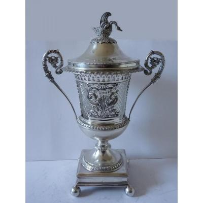 Drageoir Au Cygne, Sterling Silver, Restoration Period