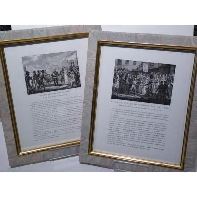 Pair Of Royalist Engravings, Louis XVIII & The Duke Of Berry, Restoration Period