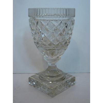 Vase à Violettes, Cristal de Vonèche, Début 19ème Siècle