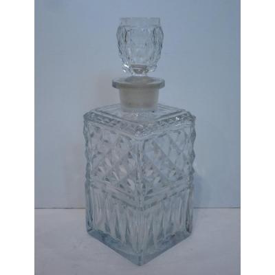 Carafe à Whisky, Cristal de Montcenis Le Creusot, Début 19ème Siècle