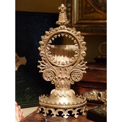 Porte-montre Néo Gothique, Bronze Doré, époque Restauration
