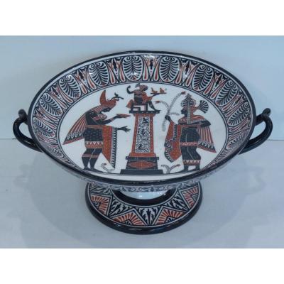 Coupe à l'Antique, Porcelaine de Naples, Manufacture Giustiniani, Vers 1830