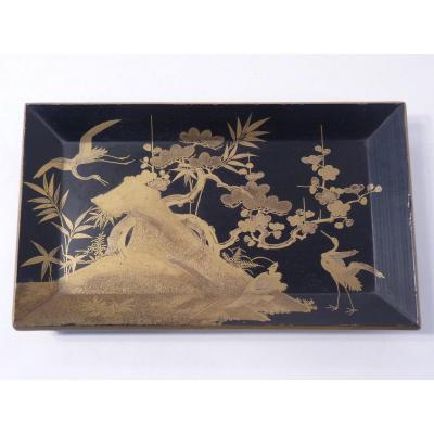 Small Tray, Japanese Lacquer, Meiji Period