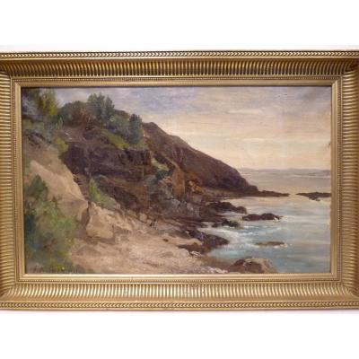 Joseph Antonio Hekking (1830-1903) Paysage de Bord de Mer, 19e Siècle
