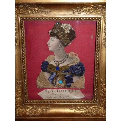 Duchess Of Berry, Dressed Engraving, Restoration Period