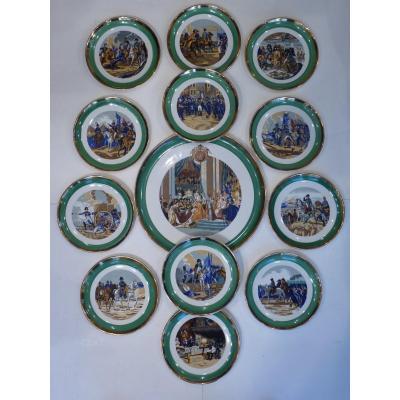 Napoleon Cake Service, Gien, Circa 1950-1960