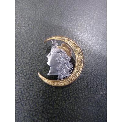 Masonic Liberty Brooch, Argentina 1890, Silver & Vermeil