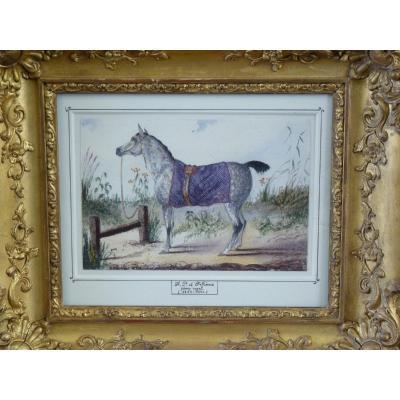 Duc d'Orléans, Le Cheval du Prince, Aquarelle, Collection du Comte de Paris