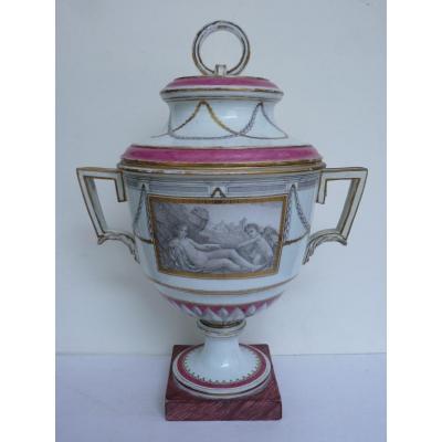 Vase Couvert Néoclassique, Porcelaine de Niderviller, Epoque Louis XVI