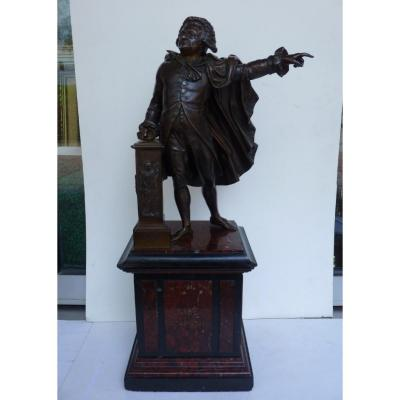 Jean Marie Pigalle (1792-1857) Mirabeau aux Etats Généraux, Bronze, 19e Siècle