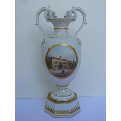 KPM, Berlin, Vase de la Reine Augusta de Prusse, Vers 1860