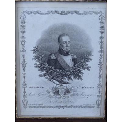 Comte d'Artois Futur Charles X, Gravure 18e Siècle