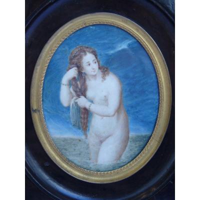 Grande Miniature, La Baigneuse, Début 19e Siècle