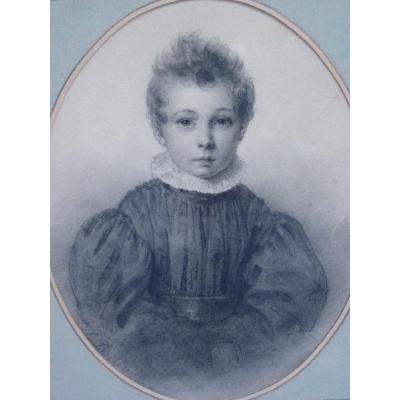 Julien Léopold Boilly (1796-1874) Petit Garçon au Col Fraise, Vers 1830