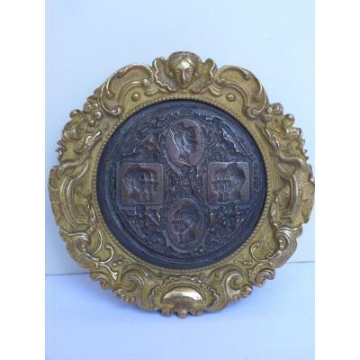 Jean Auguste Barre (1811-1896) Rare Matrix Royal Medal, Louis-philippe At La Monnaie