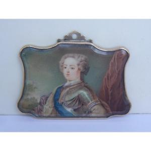 Miniature, King Louis XV, Collection King Umberto II Of Italy