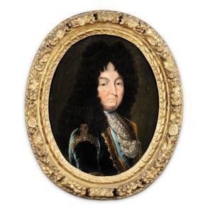 King Louis XIV, Oil On Canvas, Circa 1710