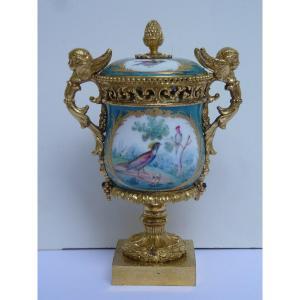 Potpourri, Sèvres Porcelain And Rich Gilt Bronze Frame