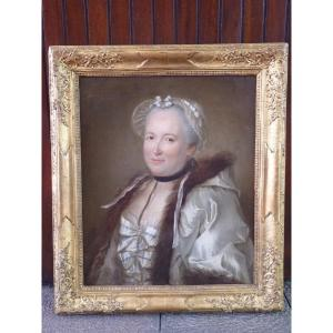 Lady Of Quality With Fur Collar, Louis XV Period