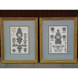 Giovanni Battista Piranese (1720-1778) Pair Of Furniture & Works Of Art Prints, 19th Century