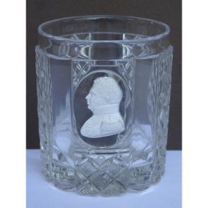 Baccarat, Cristallocérame Goblet, Le Duc De Berry, Restoration Period