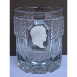 Baccarat, Cristallocérame Goblet, Napoleon 1st, Empire Period