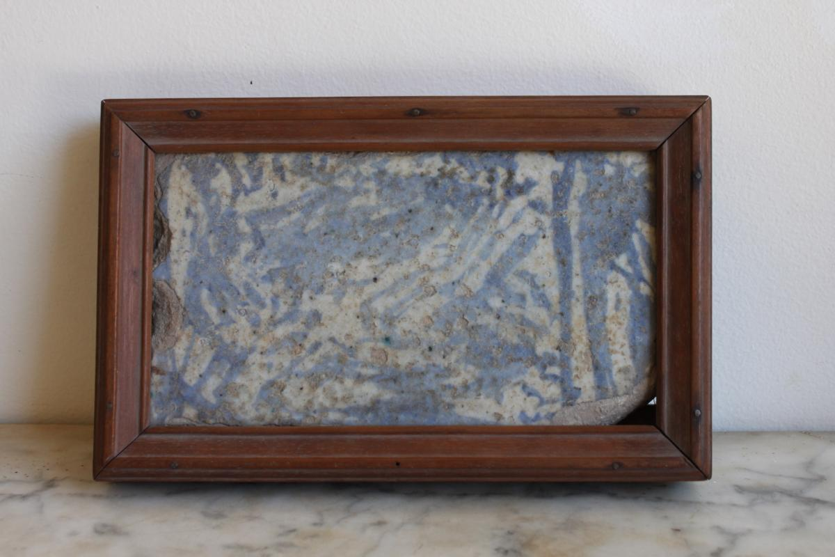 A White And Blue Isnik Tile XVIIIth Century