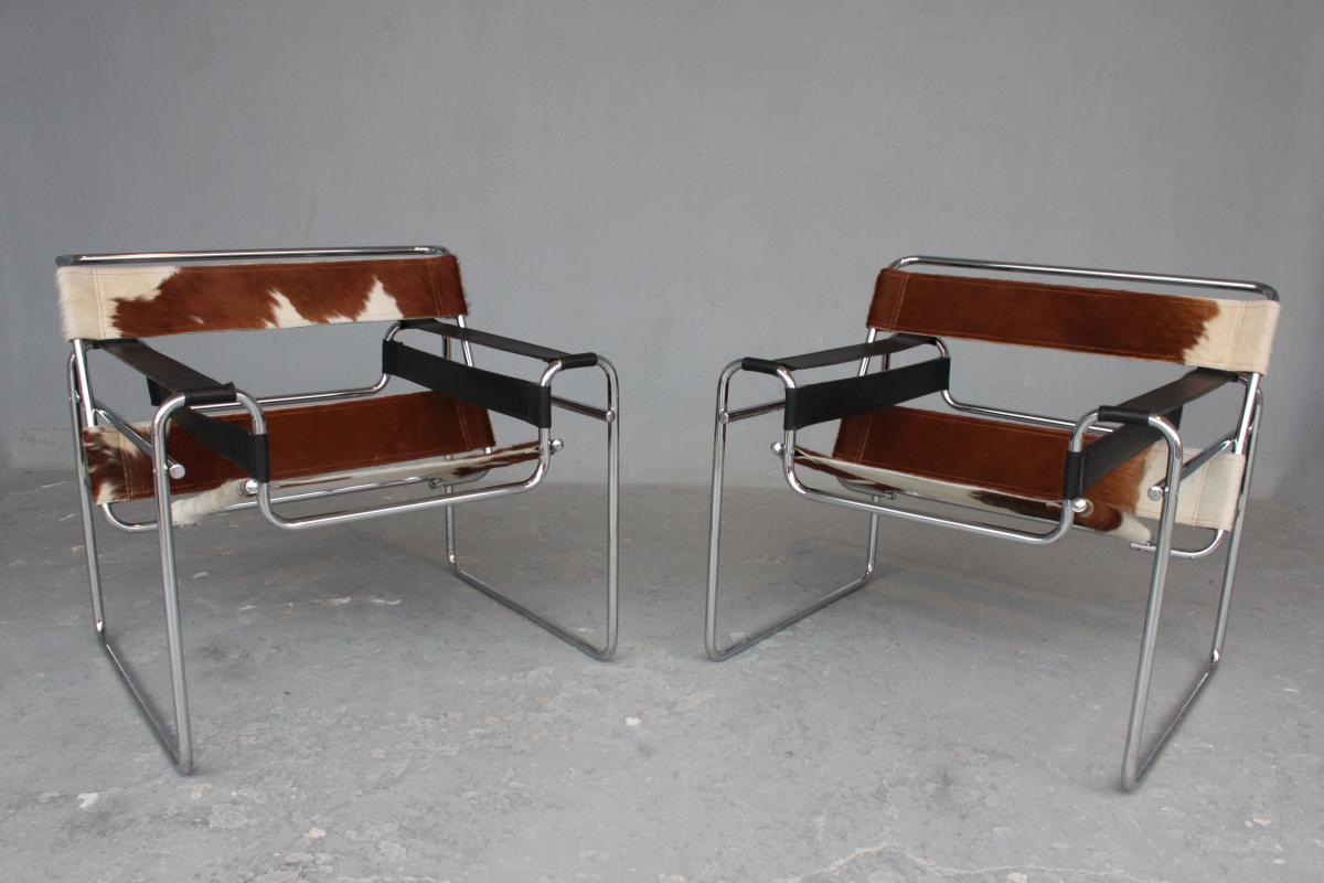 Paire De Fauteuils Vassily De Marcel Breuer Circa 1970