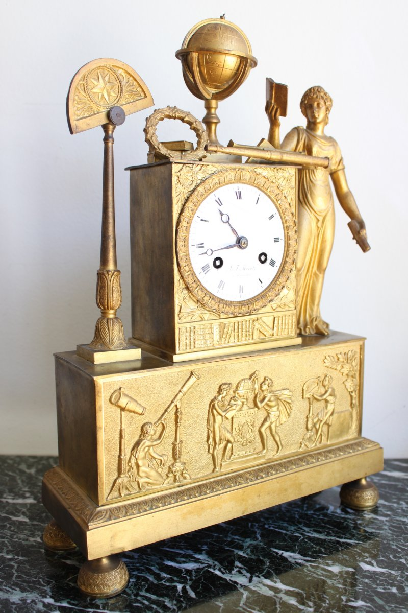 Allegory Of Science Clock