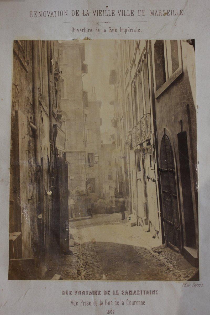 """""""Rénovation de la vieille ville de Marseille"""" Photo Terris 1862"""
