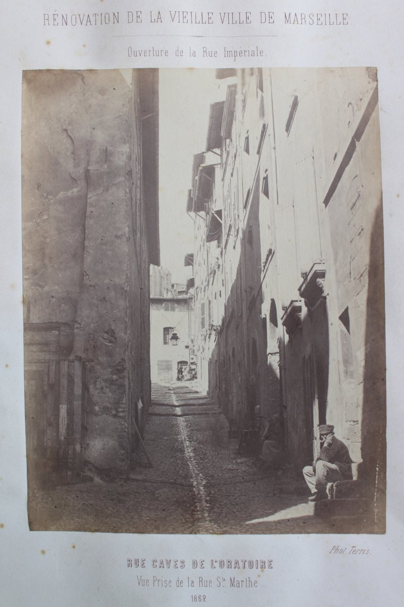 """""""renovation Of The Old Town Of Marseille"""" 1862 Photo By Terris"""