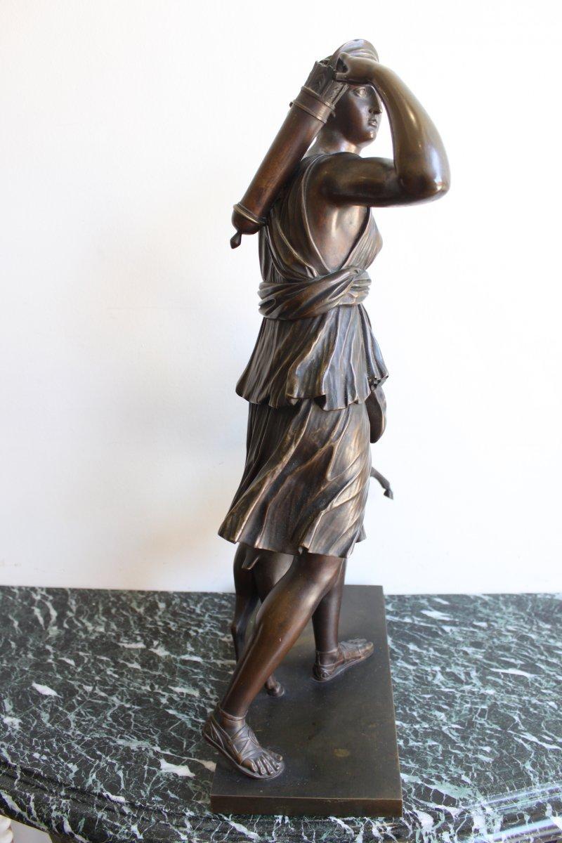 Sculpture en Bronze Diane Chasseresse XIXème