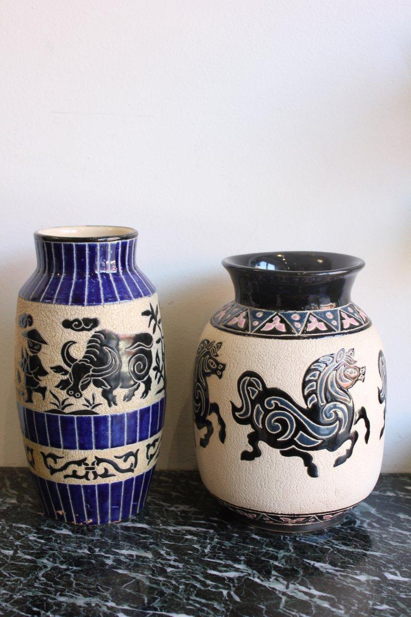 Paire De Vases Vietnamiens Epoque XXème