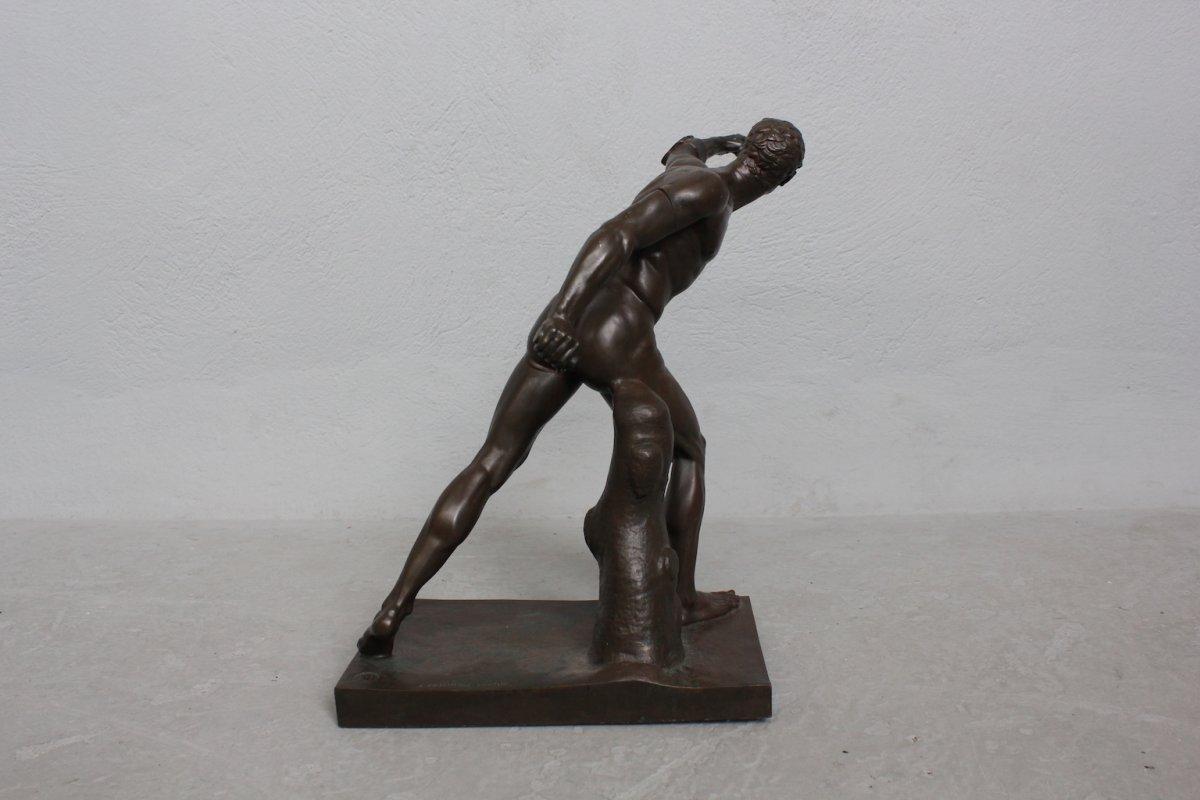 Bronze Barbédienne Gladiateur Borghèse  XIXème Procédé Collas