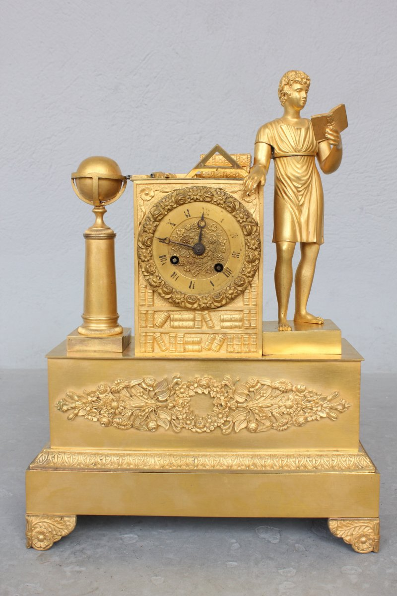 19th Century Clock With Reading And Masonic Attributes