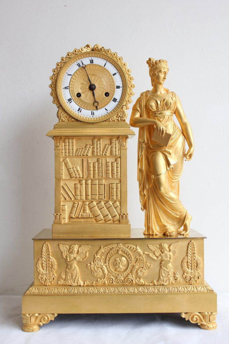 19th Century Gilt Bronze Clock