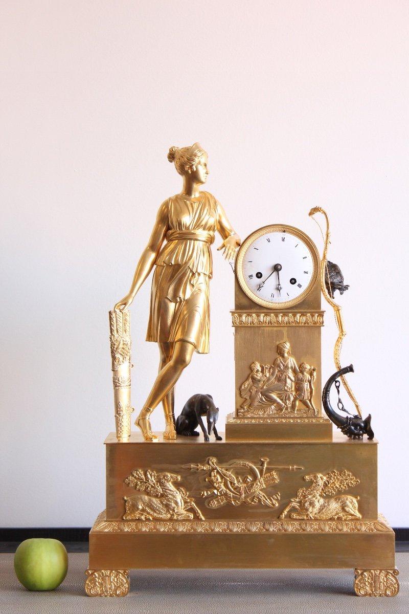 Pendule Diane Chasseresse Epoque XIXème