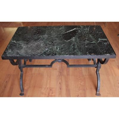 Table Basse De Gilbert Poillerat Circa 1940