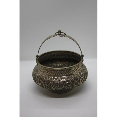Vase Juif En Argent époque XIXème