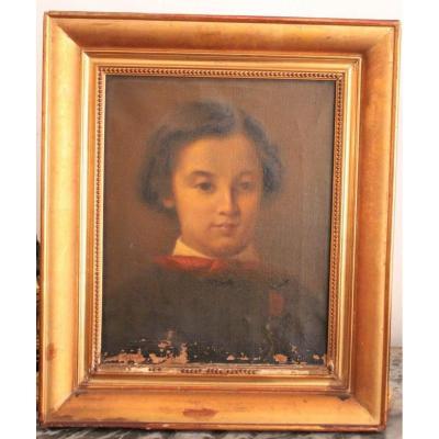 Portrait d'Un Enfant Epoque XIXème