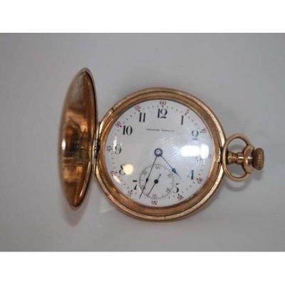 Montre Gousset En Or Tavannes Watch Epoque 1900