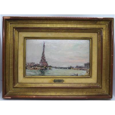 """Tableau """" Vue De Paris """" De Charles Bousquet ( 1856 - 1946 )"""