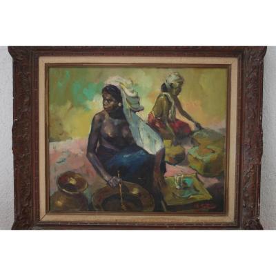 Peinture d' Epoque XXème Ecole Indonésienne