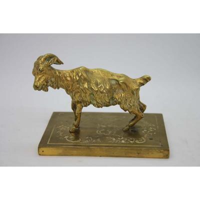 Chèvre En Bronze époque XIXème