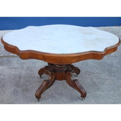 Table En Noyer d' époque Louis Philippe, XIXème